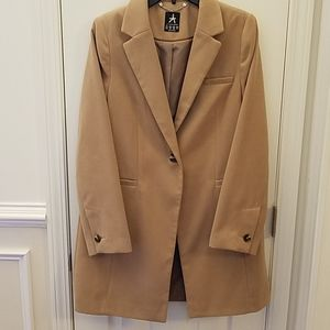 Camel Trench Coat Single Button